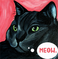 cat art by Steph Fitzsimmons