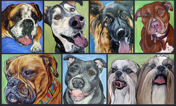 dog paintings by Steph Fitzsimmons