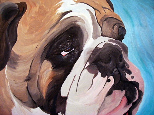 Big Bulldog Painting In Progress 10/22/2012