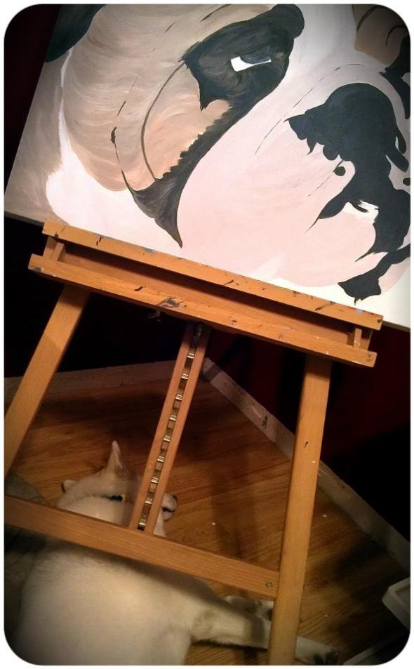 Big Bulldog Painting In Progress 9/20/2012