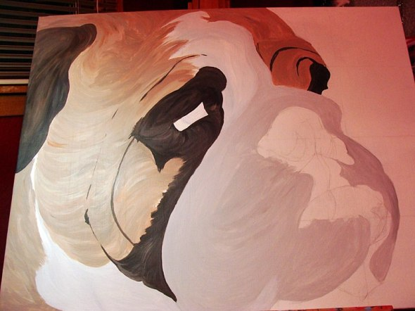 Big Bulldog Painting In Progress 9/18/2012