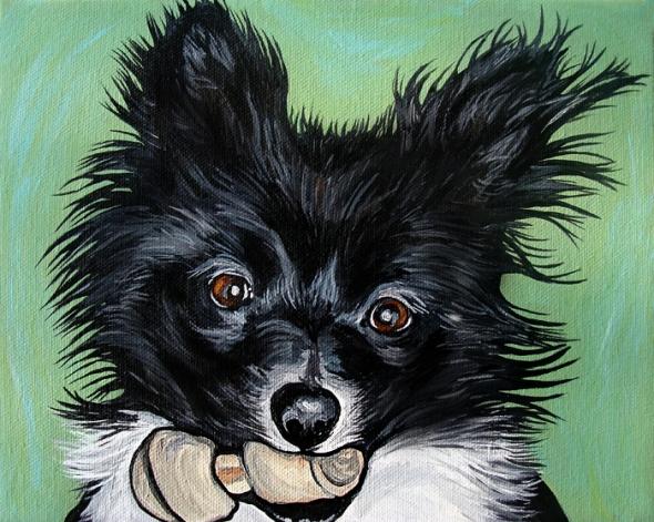 Pomeranian Painting