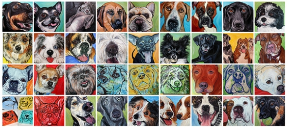 dog paintings 2012
