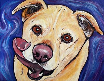 Baby dog art