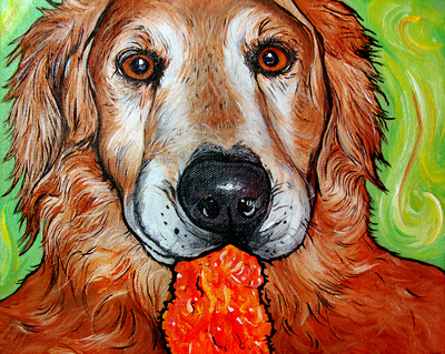 golden retriever art