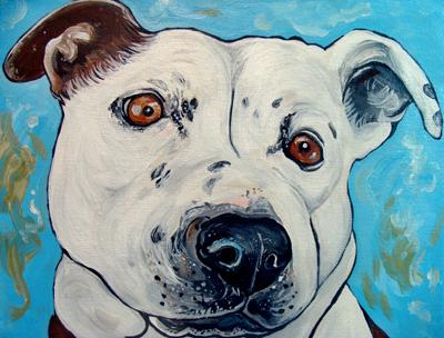 pit bull dog art