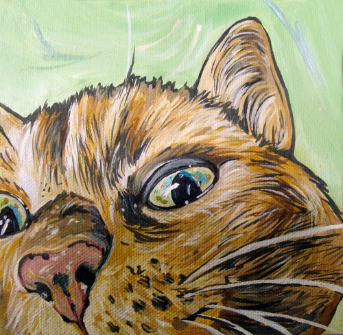 cat painting by WOOF Factory